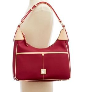 Dooney & Bourke Rebecca Hobo in Cranberry red